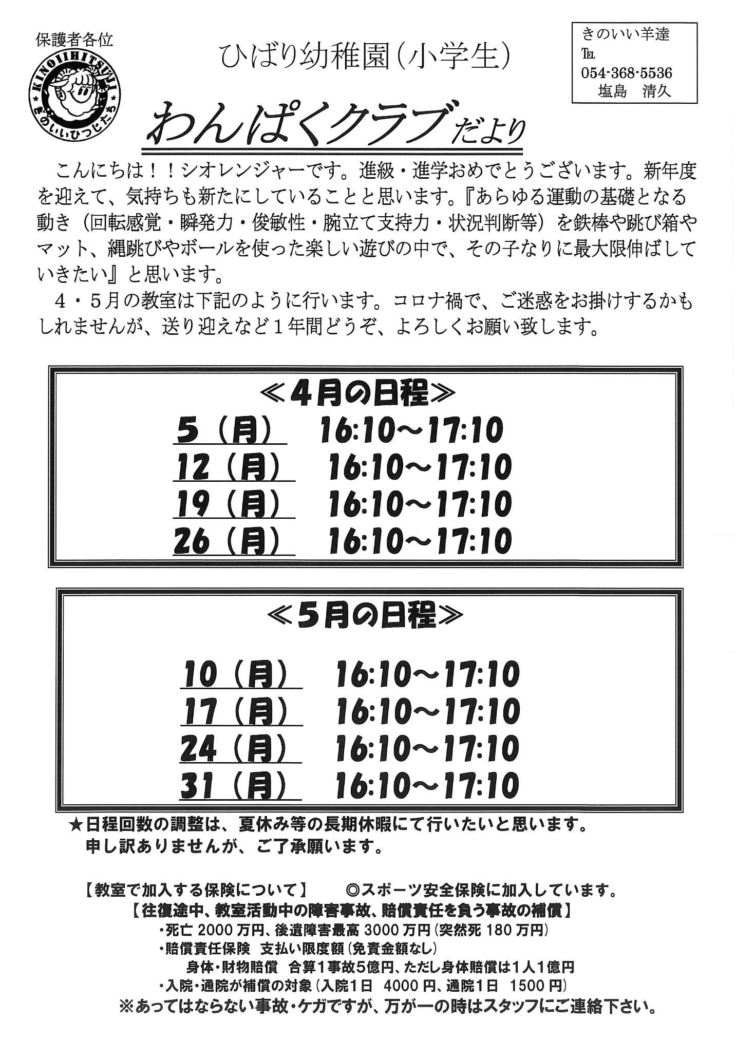 静岡 ひばり幼稚園(小)
